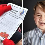 Prince George asks Santa for police car in adorable handwritten letter