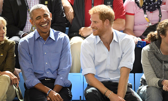 Prince Harry and Barack Obama at the Invictus Games Photo (C) GETTY