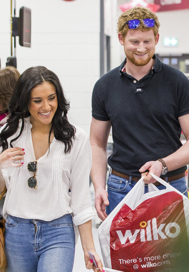 Prince Harry and Meghan Markle look-a-likes hit up the shop Photo (C) SWNS
