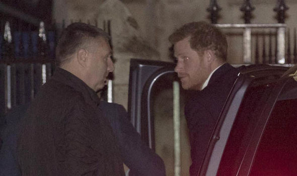 Prince Harry arrives at Henry Van Straubenzee Memorial Fund carol concert Photo (C) CONSTANT MEDIA