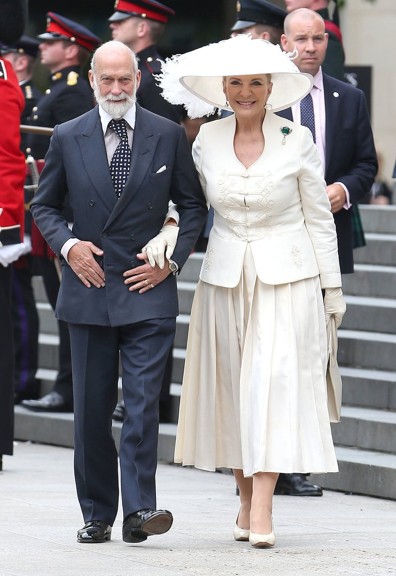 LONDON, ENGLAND - JUNE 10: Prince Michael of Kent and Princess Michael of Kent arrives for The National Service of Thanksgiving at St Pauls Cathedral on June 10, 2016 in London, England. (Photo by Neil Mockford/Alex Huckle/GC Images)