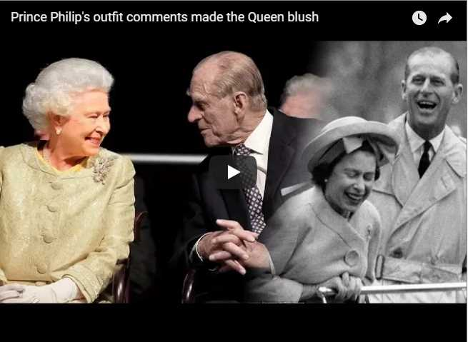 Prince Philips outfit comments made the Queen blush