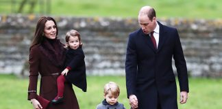 Prince William, Duchess Kate, Prince George and Princess Charlotte Photo (C) GETTY
