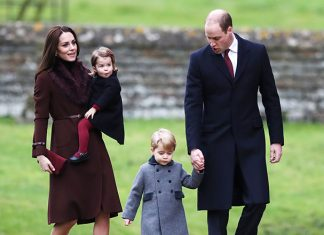 Prince William, Duchess Kate, Prince George and Princess Charlotte Photo (C) GETTY