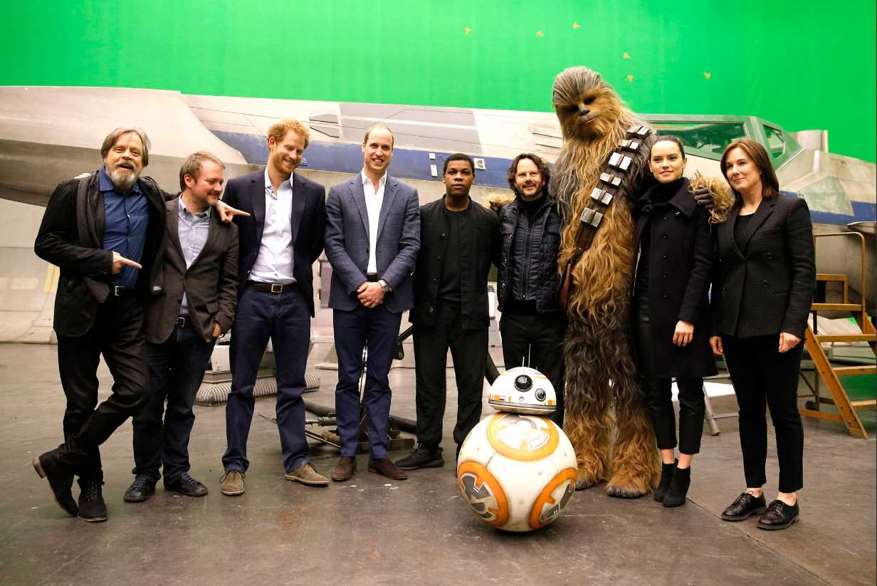 Prince William and Prince Harry visited the starwars film set at Pinewood Studios in April 2016 to recognise Photo (C) KENSINGTON PALACE TWITTER
