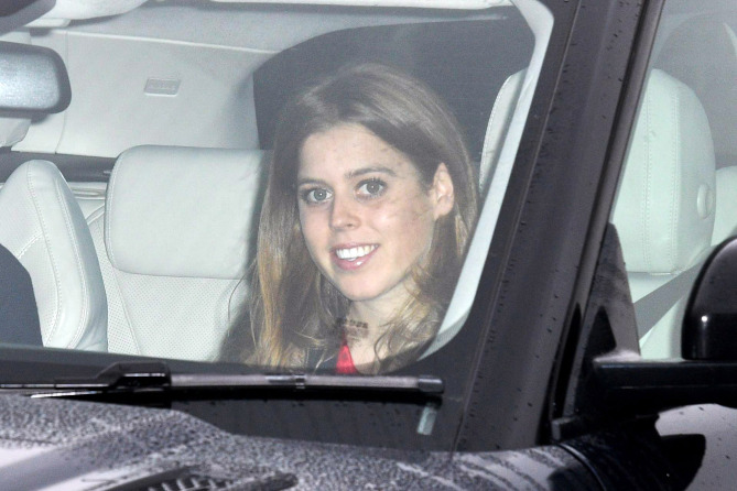 Mandatory Credit: Photo by Tim Rooke/REX/Shutterstock (9298501x) Princess Beatrice Royal Christmas lunch, Buckingham Palace, London, UK - 20 Dec 2017