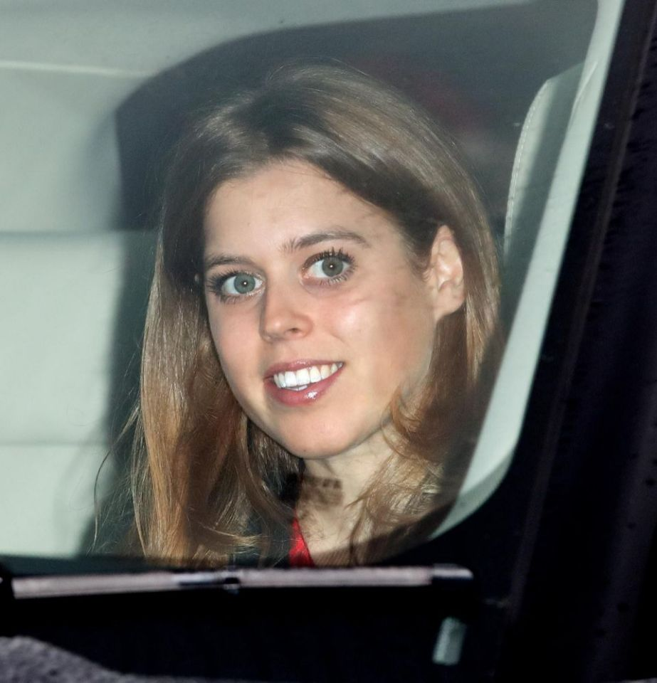 Princess Beatrice going to attend Christmas Party at Buckingham Palace Photo (C) GETTY IMAGES