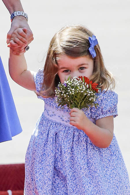 Princess Charlotte does have a feisty side according to Kate Photo (C) GETTY