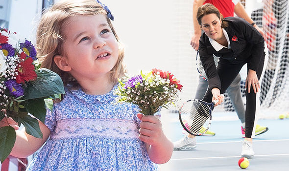 Princess Charlotte has caused a stir at the Hurlingham Club in Fulham Photo (C) GETTY