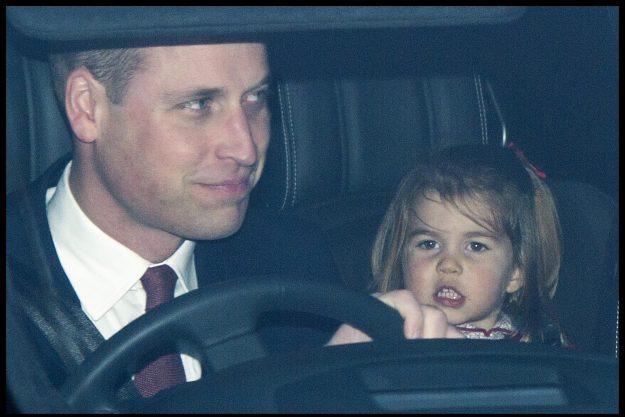 Princess Charlotte looked sleepy as she left the Palace[i-images]