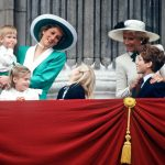 Princess Diana stands next to Princess Michael of Kent during Trooping the Colour in 1988 Photo C GETTY
