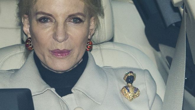 Princess Michael of Kent was pictured wearing the brooch after attending the Queen's annual Christmas banquet at Buckingham Palace Photo (C) GETTY IMAGeS