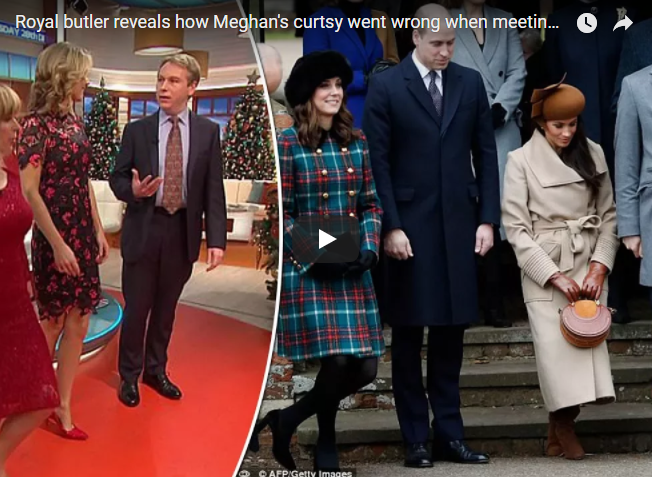 Royal butler reveals how Meghans curtsy went wrong when meeting the Queen
