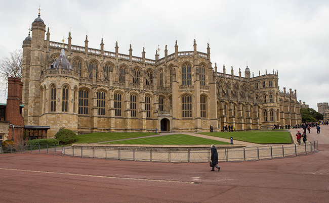 St. George's Chapel at Windsor Castle where Harry and Meghan will marry Photo (C) GETTY