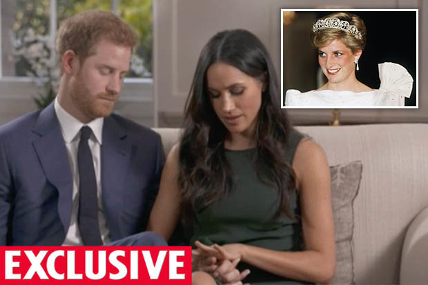 THOUGHTFUL Prince Harry included his mum Dianas gems in Meghan Markles ring Photo C GETTY YOUTUBE