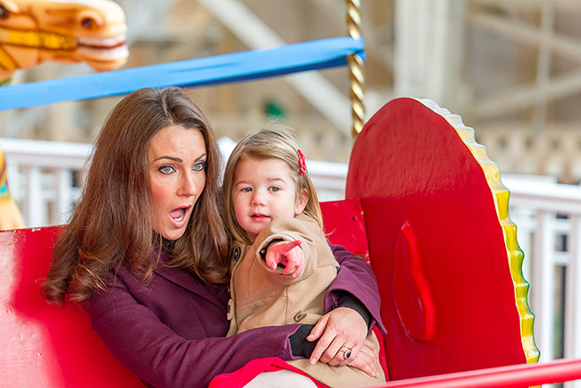 The Cambridge family's lookalikes visited The Frosted Fairground at Dreamland Photo (C) GETTY