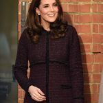 The Duchess looked glowing as she arrived for the visit. It was recently announced that she will give birth to her third child in April 2018
