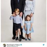 The Duke and Duchess of Cambridge are pleased to share a new photograph of their family Photo C TWITTER