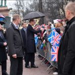 The Duke was greeted by the Helsinki crowds at Esplanade Park many were waving flags for StAndrewsDay. RoyalVisitFinland Photo C KENSINGTON PALACE TWITTER