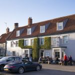 The Hoste at the popular Burnham Market is a popular dining spot with the royals serving local specialties such as terrine of Norfolk guinea fowl and duck liver
