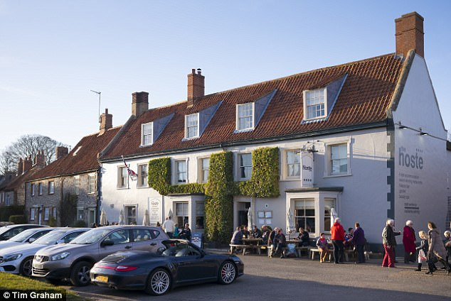 The Hoste at the popular Burnham Market is a popular dining spot with the royals, serving local specialties such as terrine of Norfolk guinea fowl and duck liver