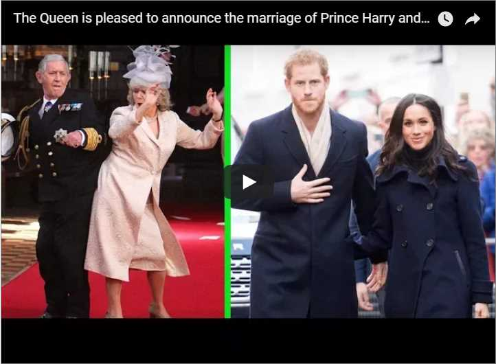 The Queen is pleased to announce the marriage of Prince Harry and Meghan Markle
