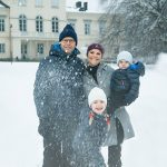 Crown Princess Victoria of Sweden and Prince Daniel have released one of the most festive cards, posing with their children Princess Estelle and Prince Oscar outside a snow-covered Haga Palace in Stockholm. Cheeky Estelle is caught mid-action, throwing a snowball at the camera. A video of the family playing in the snow also accompanied the picture.