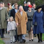 The big day sees all the Royals head to church Photo C GETTY