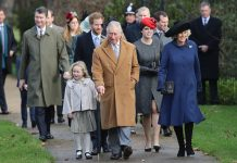 The big day sees all the Royals head to church Photo (C) GETTY