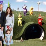 The family of four are even seen alongside the Teletubbies in La La Land in one picture