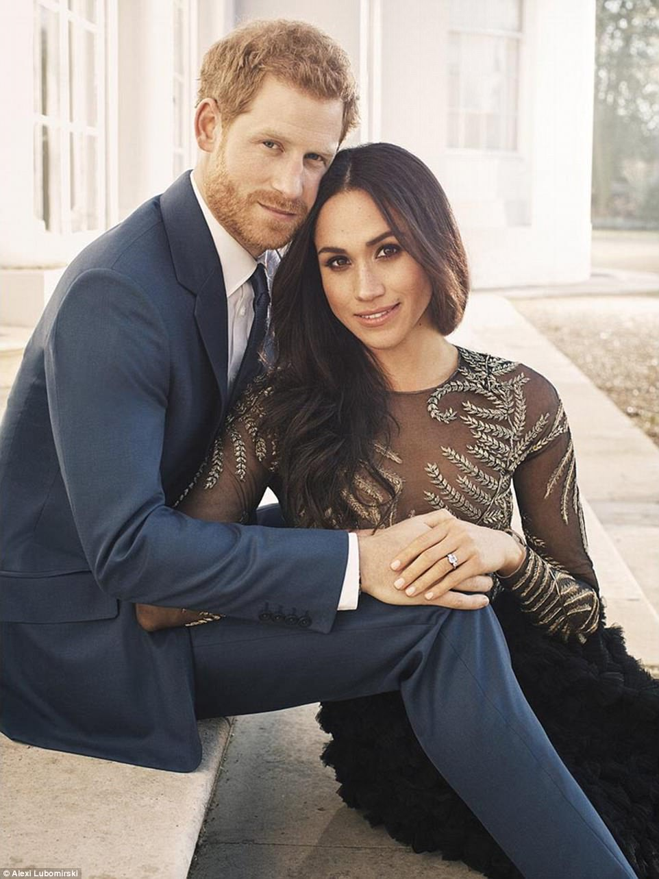 Prince Harry and Meghan Markle have today released their official engagement portraits taken at Frogmore House