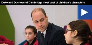 Watch Video Duke and Duchess of Cambridge meet cast of childrens characters