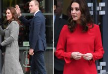 William and his pregnant wife Kate were greeted by well wishers in Manchester today Photo (C) GULF PHOTO, WENN