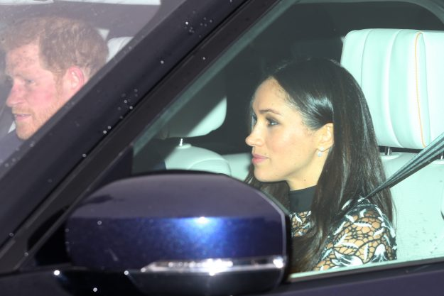 Prince Harry's fiancée is believed to be wearing a sale dress from self portrait [Wenn]