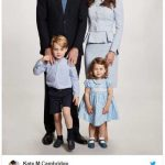 the wors official photo of Cambridges ever. Kates arm is cut off. Kids look like robots. Kates face photoshopped so look like someone but not Kate. verdict is Photo C TWITTER