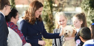 Duchess of Cambridge Kate Middleton is starting of 2018 with a new furry friend. Photo (C) Yui Mok, PA Images via Getty Images