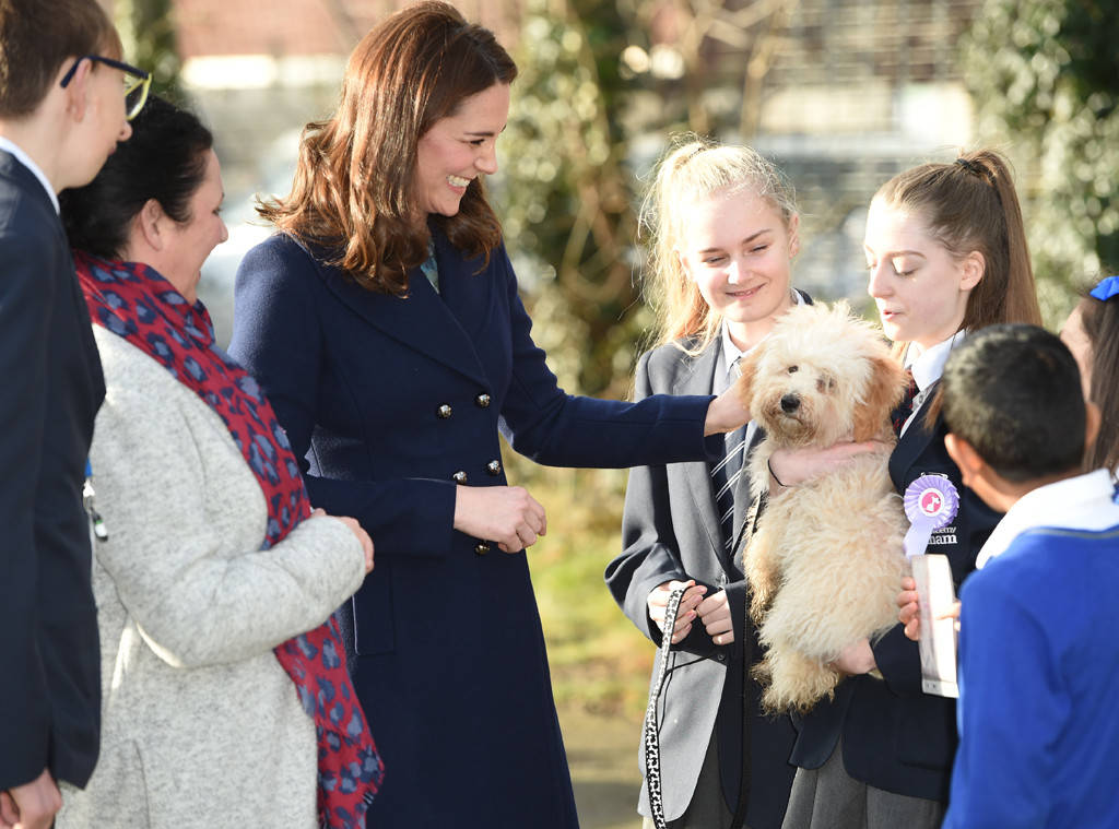 Duchess of Cambridge Kate Middleton is starting of 2018 with a new furry friend. Photo C Yui Mok PA Images via Getty Images