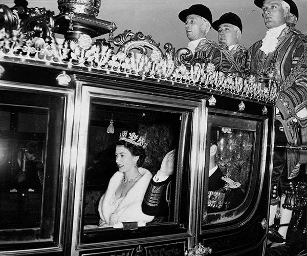 The documentary shows Queen Elizabeths reaction to her crowning. Photo C GETTY