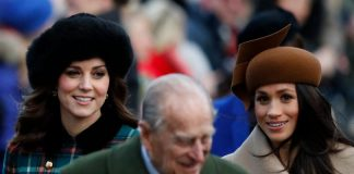 Catherine, Duchess of Cambridge and Meghan Markle are photographed walking to Christmas Day Church Service at St. Mary Magdalene in King's Lynn, England, on Dec. 25, 2017. Photo (C) ADRIAN