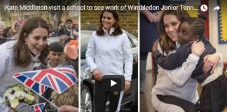 Catherine Duchess of Cambridge showed huge baby bump