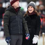 Duchess Kate was pictured wearing a pompom wool beanie in Sweden on Tuesday Photo C GETTY