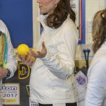 Duchess Kates baby bump was clearly visible during her visit to Bond Primary School Photo C REX