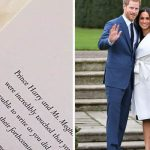 Harry and Meghan Markle have delighted well wishers by sending out touching thank you notes Photo C GETTY