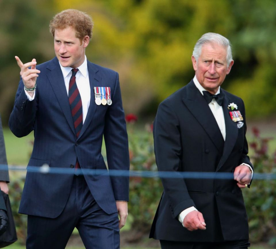Prince Harry and Prince Charles are said to be at loggerheads over royal wedding plans. Photo Getty Images