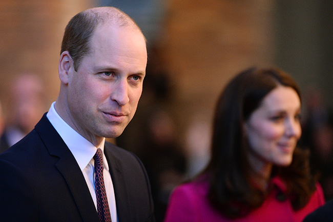 Just a couple of days earlier, Prince William was sporting his usual hairstyle. Photo (C) GETTY IMAGES