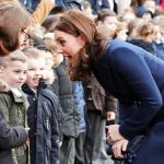 Kate Middleton The blue hue perfectly complemented Kate's stunning sapphire and diamond ring Photo C GETTY