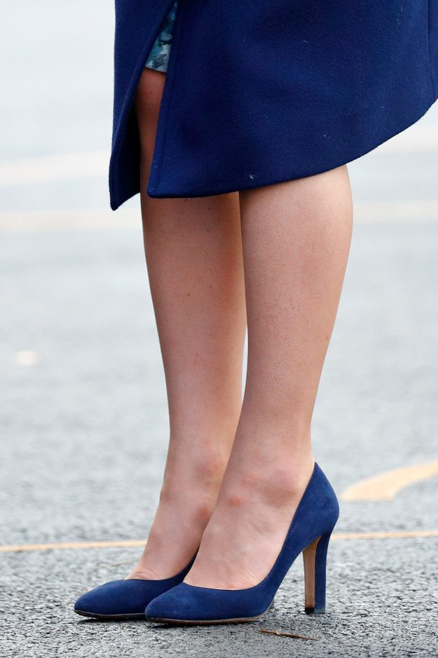 Kate Middleton ditched her tights for an engagement in London [Getty]