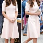 Kate Middleton loves her navy and camel wedges for more casual looks Getty