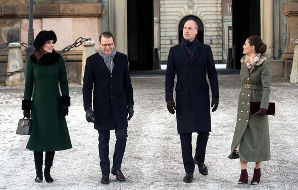 Kate Middleton news The Duchess wore another green outfit, this time a heavy coat Photo (C) PA, GETTY