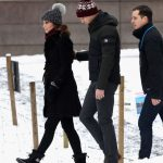 Kate Middleton news William placed a protective arm on his pregnant wife's back as they walked Photo (C) GETTY IMAGES
